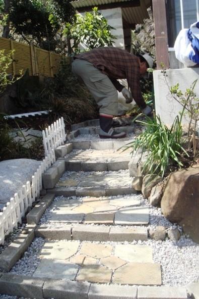 玄関石段DIYリフォーム