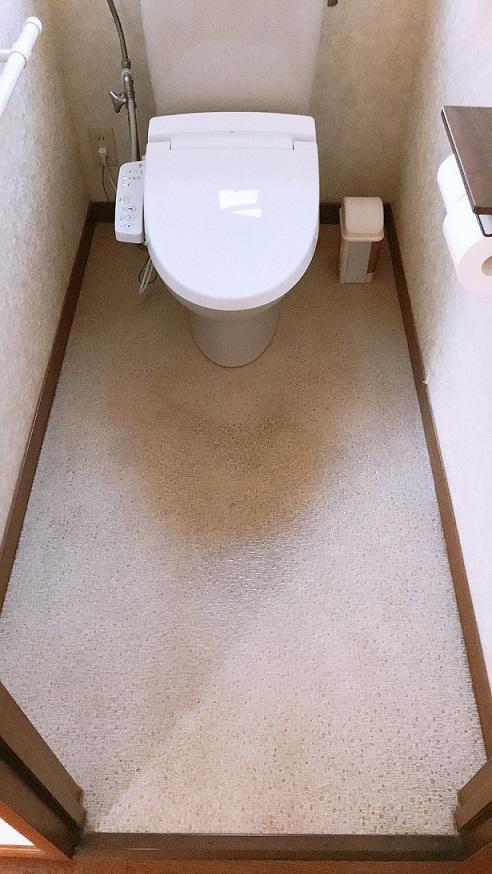 リフォーム前のトイレの床